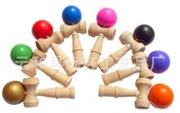 Wholesale New Big size cm Kendama Ball Japanese Traditional Wood Game Toy Education Gift Children toys colors DHL