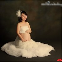 beach portrait photography - White Lace Maternity Photography Props Clothes Pregnancy Gown Set Dresses For Pregnant Women Clothing Photo Portrait Hot Sale