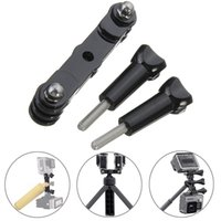 Wholesale Sport Camera Dual Long Tripod Adapter Screw Double Mount Bracket Holder Extended Adapter For Gopro Hero Sport Camera