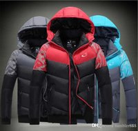Wholesale NK Winter Mens Jackets Coats Outerwear Cotton Padded Jacket Lover s Sport coat Hooded Padded Size M XXXL Colors Winter Hot Selli