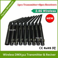 Wholesale DHL G Wireless DMX Signal Controller For Stage Light DMX512 Stage Par Light Transmitter and Receiver