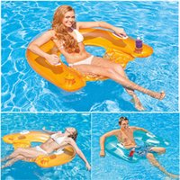 Cheap Beach inflatable floating rows Swimming pool floating rows floating mats Swimming toys outdoor floating chair entertainment toys