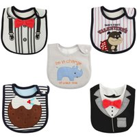 Wholesale Lovely Cute Cartoon Pattern New baby bibs Burp Cloths Toddler Baby Waterproof Saliva Towel set