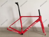 Wholesale Red Ultimate CF SLX Carbon Frame Road Bicycle Frame BB86 bottom bracket BB30 or BB68 adapter