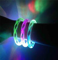 Wholesale Led Bracelet Lead Light up Bangle Color Lights Fluorescence Stick Electronic LED Flash Bracelet Light Emitting Bracelet