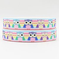 chevron ribbon - ribbon inch mm owl on color chevron webbing printed grosgrain ribbon for yds roll headband