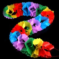 best educational pc games - 1 Pc Large Paper Pull Flower Garland Magic Tricks Props Toys for Children Best Stage Comedy Baby Kids Educational Fun Game Gifts