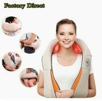 Wholesale 2016 New U Shape Electrical Shiatsu Back Neck Shoulder Massager body infrared D kneading massager EU plug flat plug