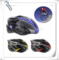 Wholesale 2015 Newest Adult Mens Fashional Cycling Ultralight Bicycle Helmet Red Yellow Blue Carbon Color With Visor EPS Materials Helmet