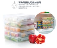Wholesale Patents plastic kitchen storage box storage separate the odor proof boxes microwave oven refrigerator box