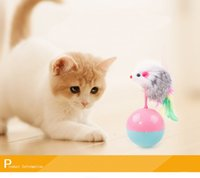 Wholesale Pet Cat Toys Tumbler toy Training Fun Mouse Mice Play Toy Rubber Tumbler Ball Tumbler Mouse cat toy