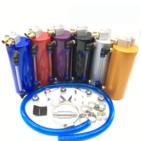 Wholesale Universal Aluminum Racing Oil Catch Tank CAN Round Can Reservoir Turbo red blue gold silver purple black