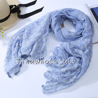 Wholesale national Signature Cotton Scarf Female All match Wraps New Fashion Unisex Scarf Solid Silk Scarf