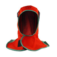 Wholesale welder cap Fire fox red flame retardant cloth cap thin breathable water wash FR welding hat