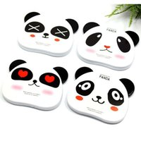 Wholesale Free DHL New Arrival Cartoon Animal Panda Comb And Mirror Set Makeup Mirrors Portable Pocket Cosmetic Mirror Seals168 ZJ M01