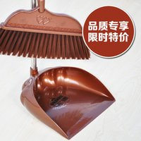 Wholesale Stainless steel extension rod rows of silk sweep dustpan combination combination broom fold broom and dustpan