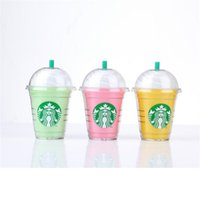 Wholesale Starbucks mAh Power Bank portable External Backup Battery Charger with Built In USB Cable for iphone plus JY