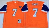 Wholesale Hot Sale Stitched American Football Team Jersey Elway Thowback Jersey Cheap Men Retro Sport Jersey Size M XXXL