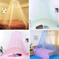 Wholesale Elegent Lace Summer House Bed Netting Canopy Dome Circular Mosquito Net White Mosquitera Malla De Mosquito Colors