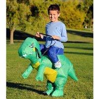 Costume de costume de dinosaure gonflable sur moi Partie Fantaisie T-Rex Costumes d'Halloween Animal transportent le costume de mascotte pour les adultes Enfants Livraison gratuite