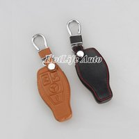 amg smart car - Car Key Case Genuine Leather for Mercedes Benz W203 W210 W211 amg W204 C E S CLS CLK CLA SLK Smart Car Keychain