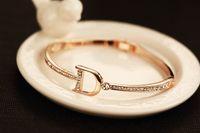 al por mayor grado inglés-2016 de la pulsera del brazalete del diseñador de la marca de fábrica de la letra inglesa completa del brazalete 18K oro plateado oro de la joyería de la manera el mejor regalo para los amantes Grado superior