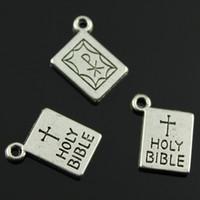antique bibles - 60pcs mm colors antique bronze antique gold antique silver holy bible charms