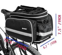 Unisex bicycle rear rack bag - Mountain Bike Bag Waterproof D Multi functional Outdoor Sports Cycling Bicycle Bike Black Rear Seat Rack Trunk Bag Shoulder Handbag Pack