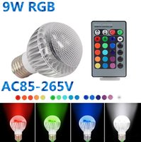remote control ic - 2015 New IC Module Color Changing W Globe Ball Bulb RGB LED Lights Lamp E27 B22 With Remote Control Free Drop Shipping