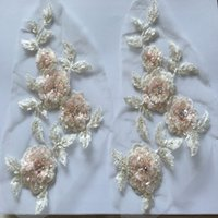 bead patches - 1 piece of patch flower applique embroidered sequins with bead handwork size is cm X cm DIY sewing accessories zakka flower patch
