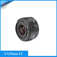 Wholesale In Stock Yongnuo mm lens YN35mm F2 lens Wide angle Large Aperture Fixed Auto Focus Lens For canon EF Mount EOS Cameras