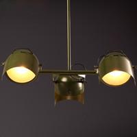 Wholesale LOFT Vintage Coffee House Creative Probe Pendant Lamp American Dinning Room Personality Study Room Bar Iron Art Lighting Fixture