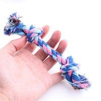 Wholesale 1 Pet toy dog toys double knot Colorful Cotton string Environmental resistant bite Random Sending