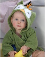 Wholesale Cotton baby swimming bath robe cartoon kindergarten children cotton suction robe cotton bathrobe wool fabric