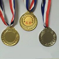 die casting aluminum medal - DHL Custom Vairous Metal Medals Make Sports Award Different Size Ribbon Blank Or With Your Logo Medal