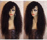 african bank - 7A afro kinky curly wigs front lace brazilian human hair short full lace kinky curly wigs for african