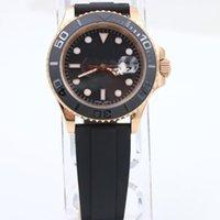 Wholesale Hot Luxury man Yatch tungsten steel bezel ceramci sports mm automatic rose gold men s watch Free Hongkong Post