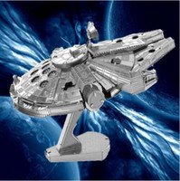 Wholesale Nano Puzzles Destroyer Droid Star Wars D metal model DIY Millennium Falcon X WING ATAT Fighter Kits styles Gift to children Originality