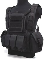 Wholesale Tactical Airsoft Molle Canteen Hydration Water Bag Combat RRV Hunting Vest Black