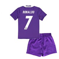Wholesale RM Purple Soccer Jersey football Shirt AAA Thai Quality Men Short Sleeve free name number Shipping Polyster
