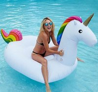 bath summer ball - Inflatable Unicorn Flamingo Swan Giant Pool Float Swan Summer Swimming Ring Flamingo Pool Float Toys for Adults