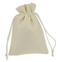 Wholesale 9x12cm Printed Jute Bag Burlap Bag Gift Bag Linen Gift Bag Wedding Favor Pouches Drawstring Pouches Small Jewelry bags craft packaging