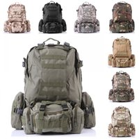 Wholesale Free DHL Outdoor Sport Waterproof Military Tactical Rucksacks Molle Backpack Camping Hiking Trekking Bag Color E599L