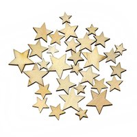 Wholesale Hot Selling Mixed Star Shape Wooden Buttons DIY Scrapbook Craft Clothing Decor Button KI
