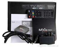 Wholesale Internet TV Box MXQPro K Set top Box Amlogic RK3229 TV Box Quad Core Android G RAM GB HDMI Wifi k P Media Player US EU Plug