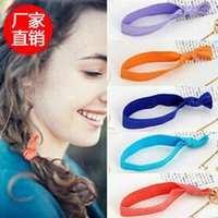 beautiful ponytail - The New Beautiful Elastic Knot Hair Tie Rubber Band Colorful Bracelets Ponytail Holder Twist Hairband