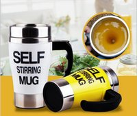 auto coffee cups - 350ML Stainless Lazy Self Stirring Mug Auto Mixing Tea Coffee Cup Office Home Use Christmas Gifts