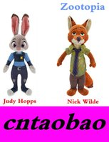 Wholesale Zootopia Judy Hopps pc Nick Wilde set cm good quality plush stuffe toys doll for children kid gift MOQ sets