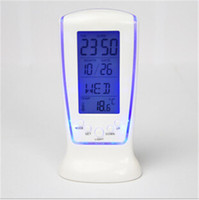 Wholesale Exclusive Creative Led Clock Blue Backlight Musical Digital Alarm with Temperature Display F312