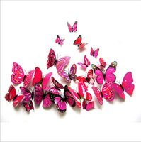 Wholesale 2016 new hot Purple Butterfly simulation Refrigerator Fridge set of dream butterfly STICKERS